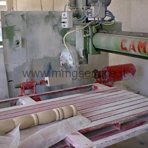 Used bridge saw with lathe