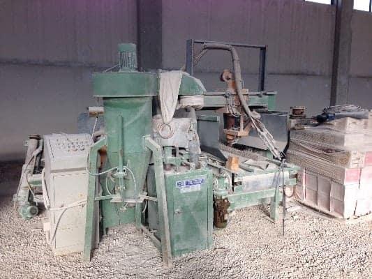 Bush-hammering and Flaming machine Pellegrini CMPM600