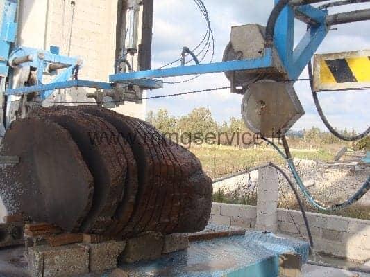 Single wire saw shaping Bidese Impianti New4000