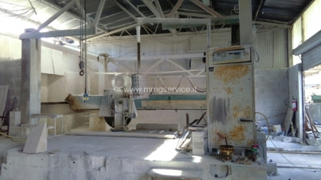 Used block cutters for marble Terzago T121 with rotating table