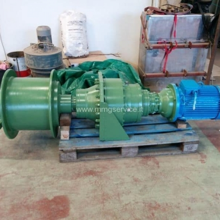 Pulling electric winch for granite gangsaws Gasapri Menotti 350