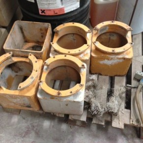 Reconditioned heads 6 sectors Breton for granite polishing machine