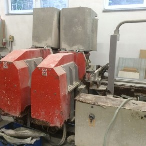 Used cutting machine 2-heads Tecnema FS 500-2T