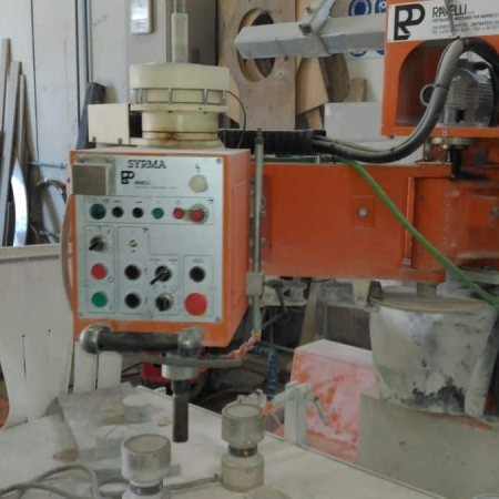 Used multifunctional grinding, polishing, drilling machine Ravelli Syrma