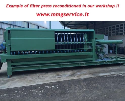 Reconditioned filter press