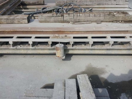Used motorized trolley for granite gangsaw 480 Gaspari Menotti