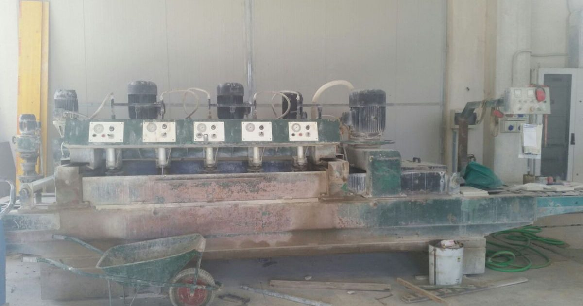Polishing machine marble tiles Simec 600 1+5