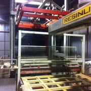 Used resin line for slabs Pedrini