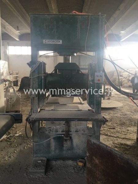 Vertical splitting machine shearing Hidrotek