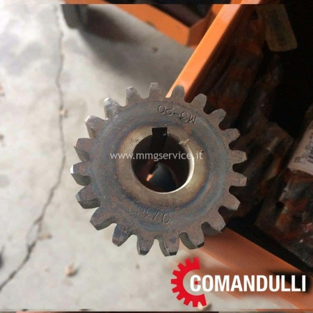 Pinion for rotation of the circular crown for Comandulli System 180 and Comandulli Rapid System