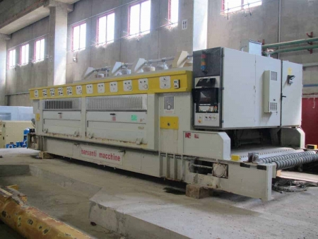 Calibrating/Polishing machine for granite slabs Barsanti B6+4
