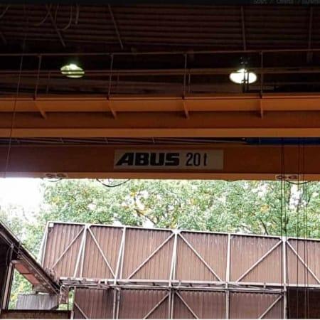 Puente grúa Abus 20 Tons – 10,9 m