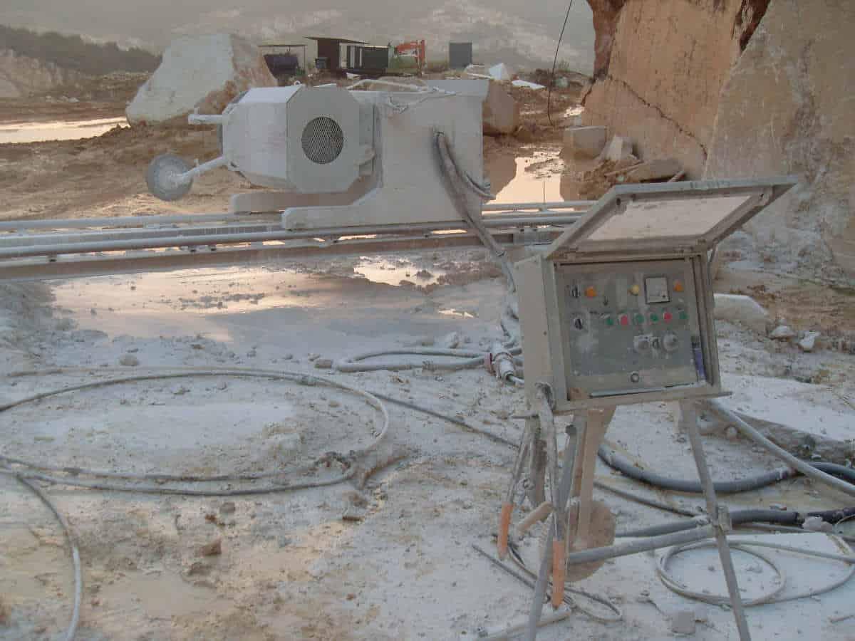 Diamond Wire Saws for quarry - Pellegrini Telediam TD 55/65/80/1000 ...