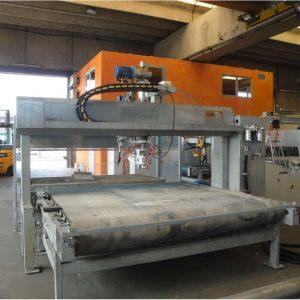 Bush-hammering and flaming machine Pellegrini FB 220 for slabs