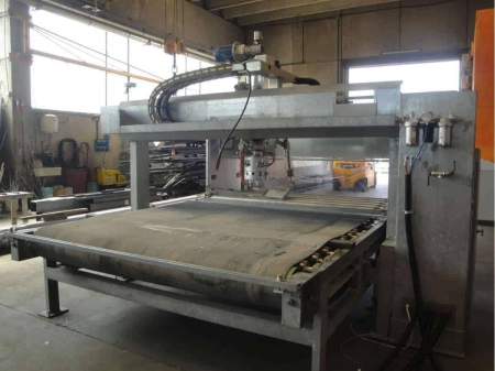 Bush-hammering and flaming machine Pellegrini FB 220 for slabs