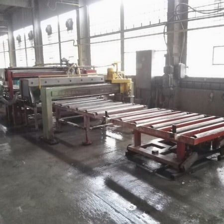 Bush-hammering – Flaming machine Pellegrini FB60/FB220 for slabs