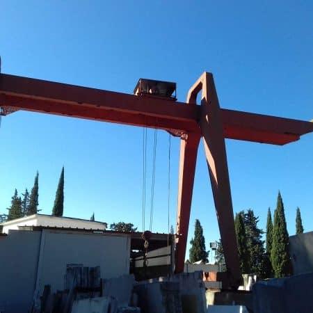 Gru a cavalletto Tedeschi e Porcelli 5 Tons - 8.5+5+5 m