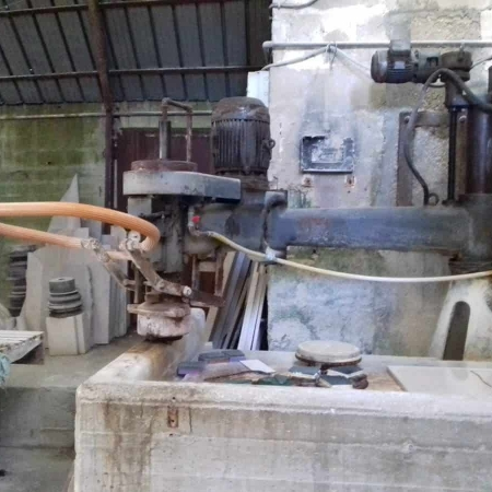 Radial arm polisher column Bisso