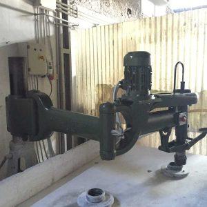 Radial arm polisher column F.lli Mordenti A185U