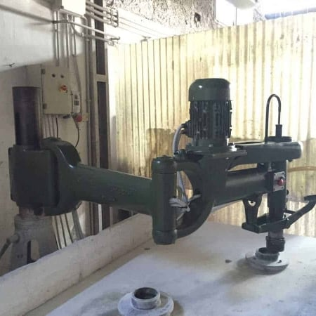 Radial arm polisher column F.lli Mordenti A185U