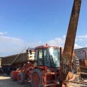 Tractor JCB con grupo de corte Fantini Synthter 894
