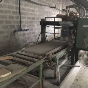 Sandblasting and flaming machine Pellegrini for tiles