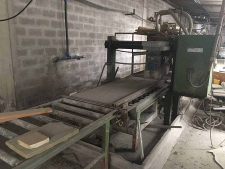 Sandblasting and flaming machine for tiles Pellegrini