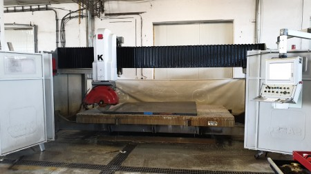 Bridge saw CNC monoblock Sassomeccanica K600 - Blade 625 mm - 5 Axes