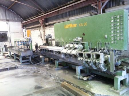 Edge polishing Löffler KSL 80 flat and round edges